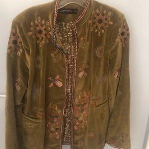 Green Zara coat
